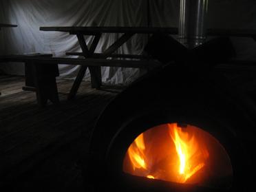 шатры с печками - отличный день рождения зимой!